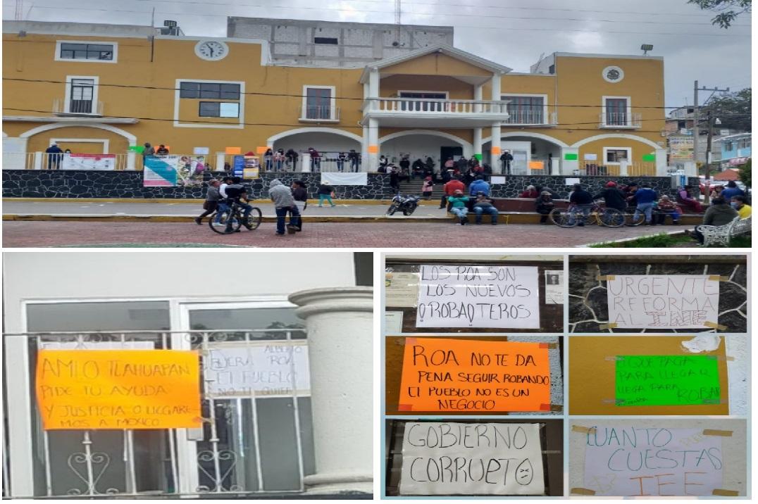 Vecinos de Tlahuapan toman alcaldía por resultado electoral