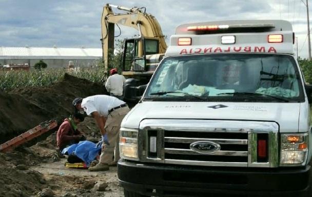 Muere trabajador en obra de Coronango; alud de tierra lo sepultó