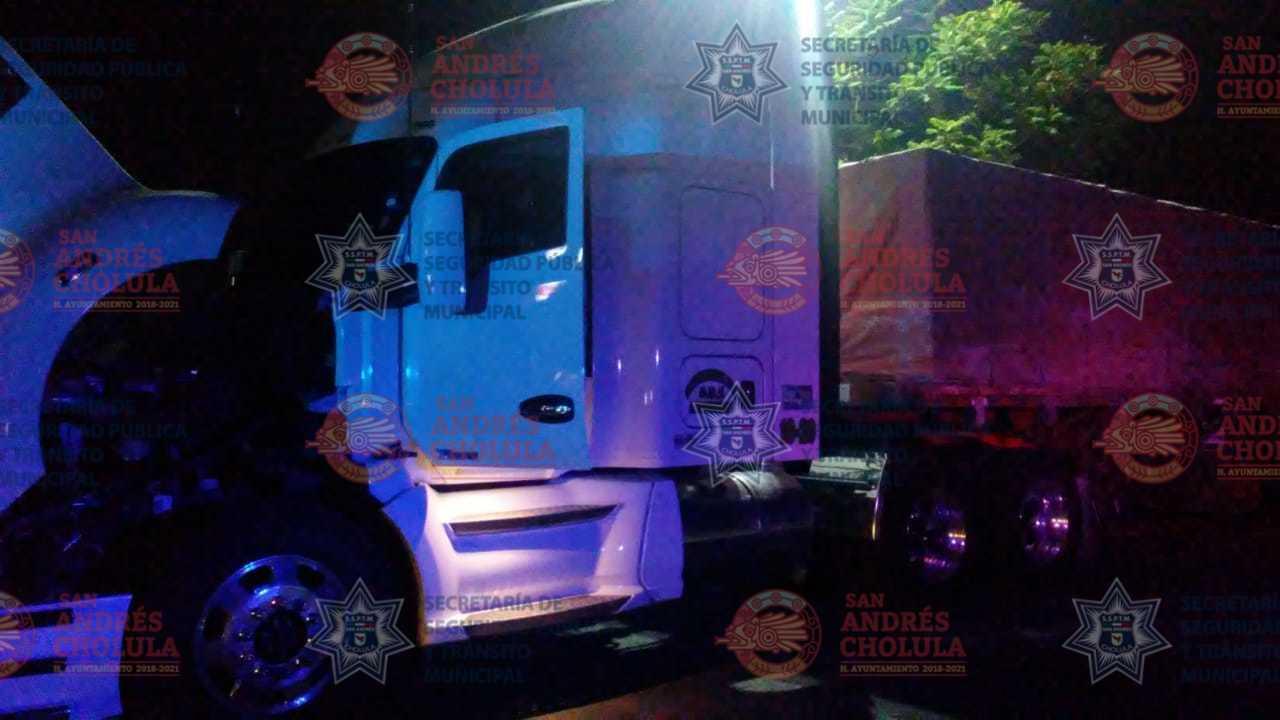 SSPTM de San Andrés recupera tractocamión robado