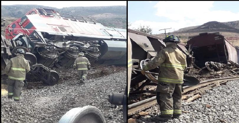 Se descarrila grúa por segunda ocasión, de un tren en Zacatecas; reportan un herido