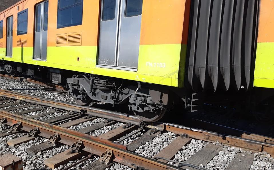 Lo que faltaba, tren del Metro de CDMX se descarrila en la Línea A