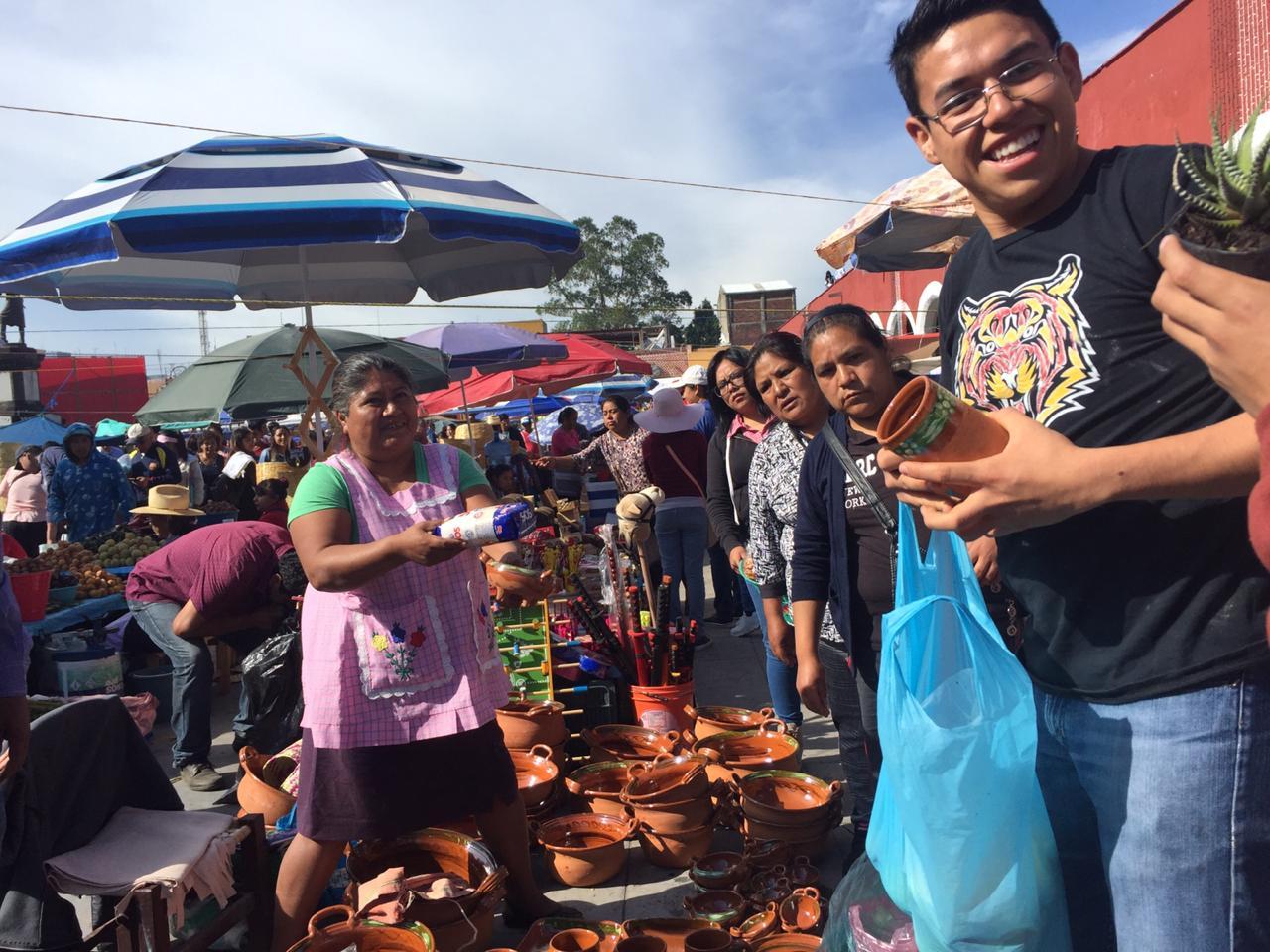 Día de trueque en San Pedro Cholula