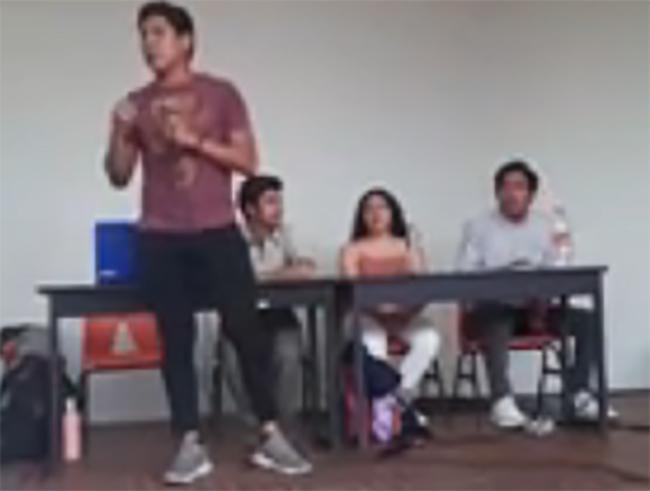 Asamblea en la UNAM por asesinatos de estudiantes en Puebla