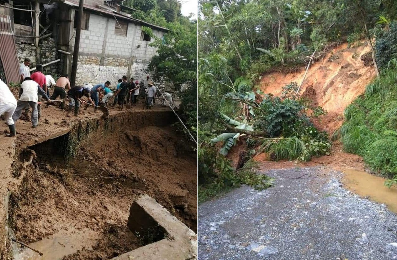Deslaves incomunican a Tepatlán; hay más de 350 familias afectadas