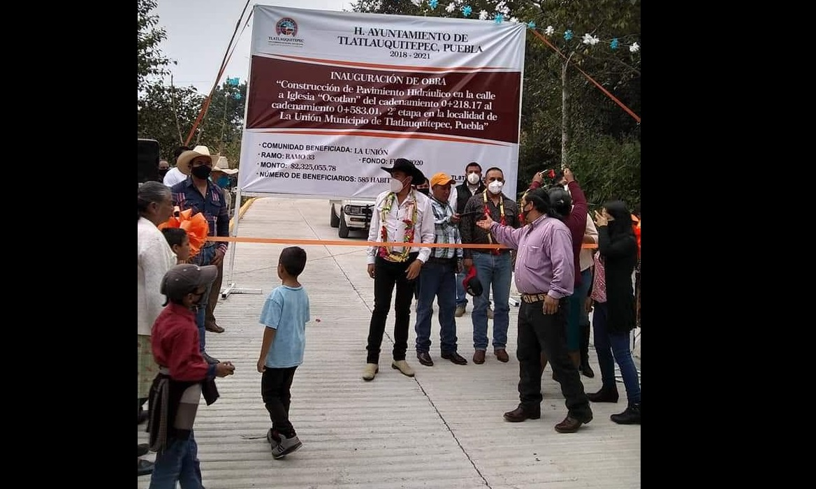 Justifican comilona con edil de Tlatlauquitepec pese a pandemia