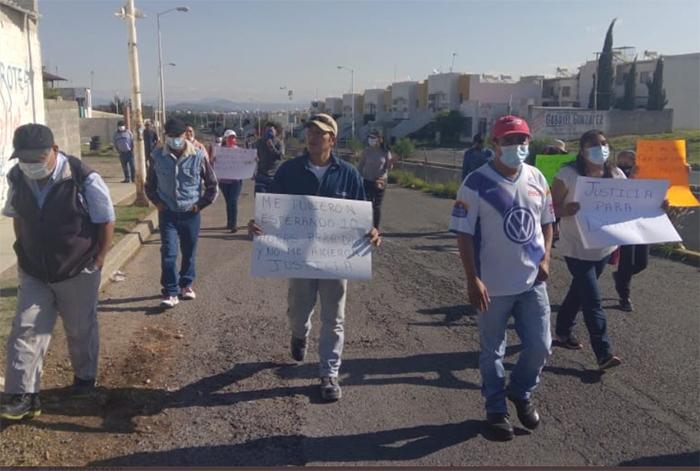 Marchan en Huejotzingo por liberación de sujeto que golpeó a niña