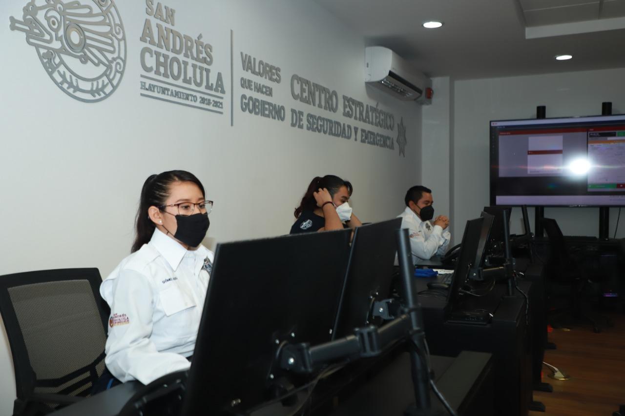 Inaugura Karina Pérez sistema de videovigilancia de San Andrés Cholula