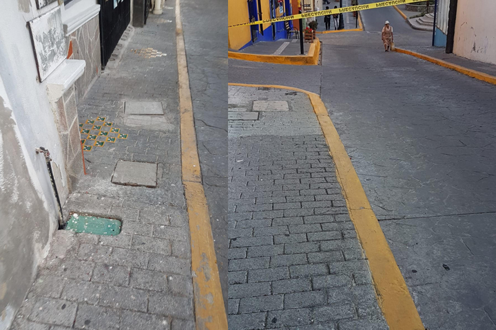 Empleados de la Villa iluminada limpian calles de Atlixco