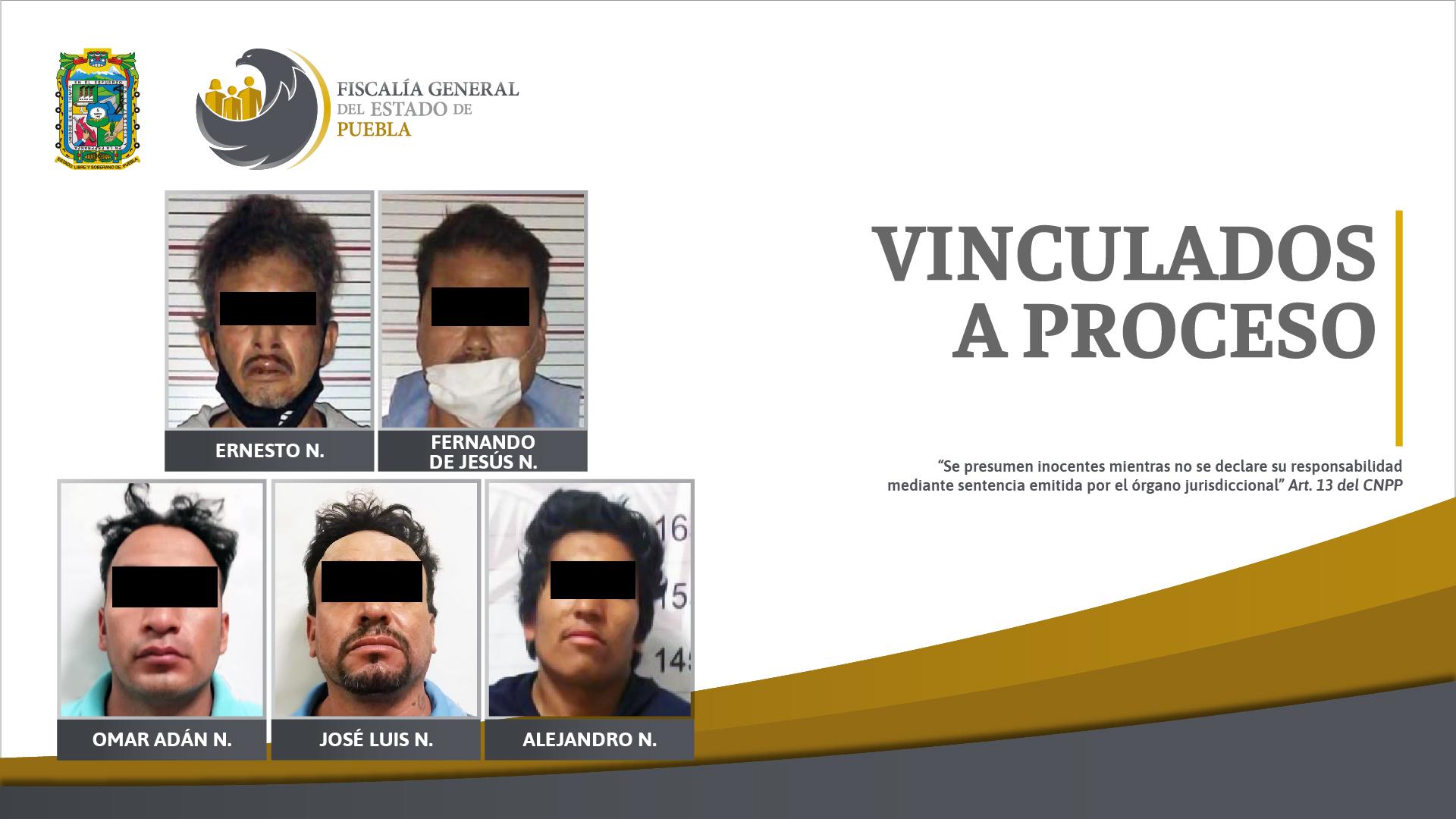 Caen cinco sujetos por robos en Puebla y Ocoyucan