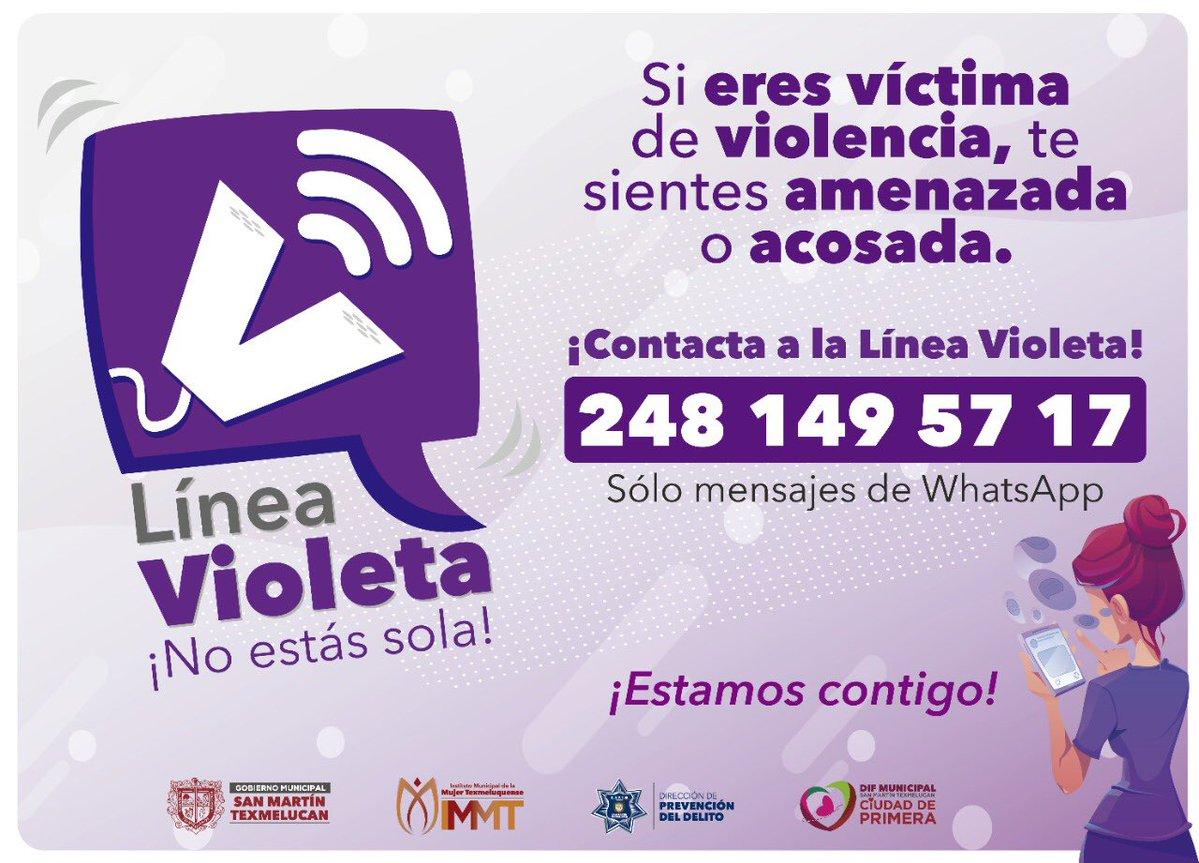Atiende línea violeta más de 300 casos de violencia en Texmelucan