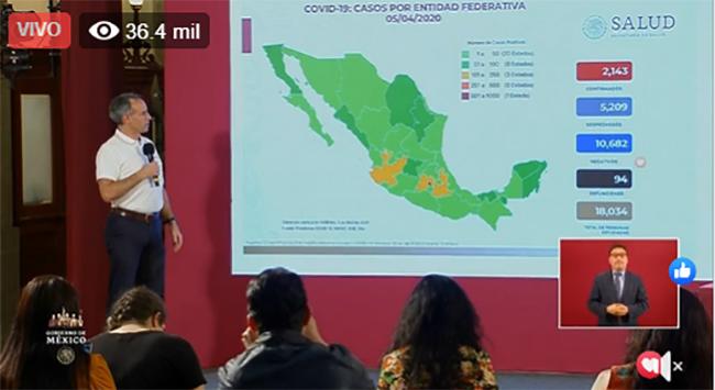 VIDEO Aumenta a 2143 los casos de coronavirus en México; ya hay 94 muertos
