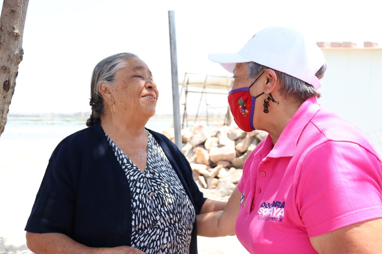 Se compromete Soraya a gestionar servicios básicos en Puebla