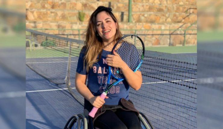 Ejemplo de inclusión, atleta paralímpica posa en lencería