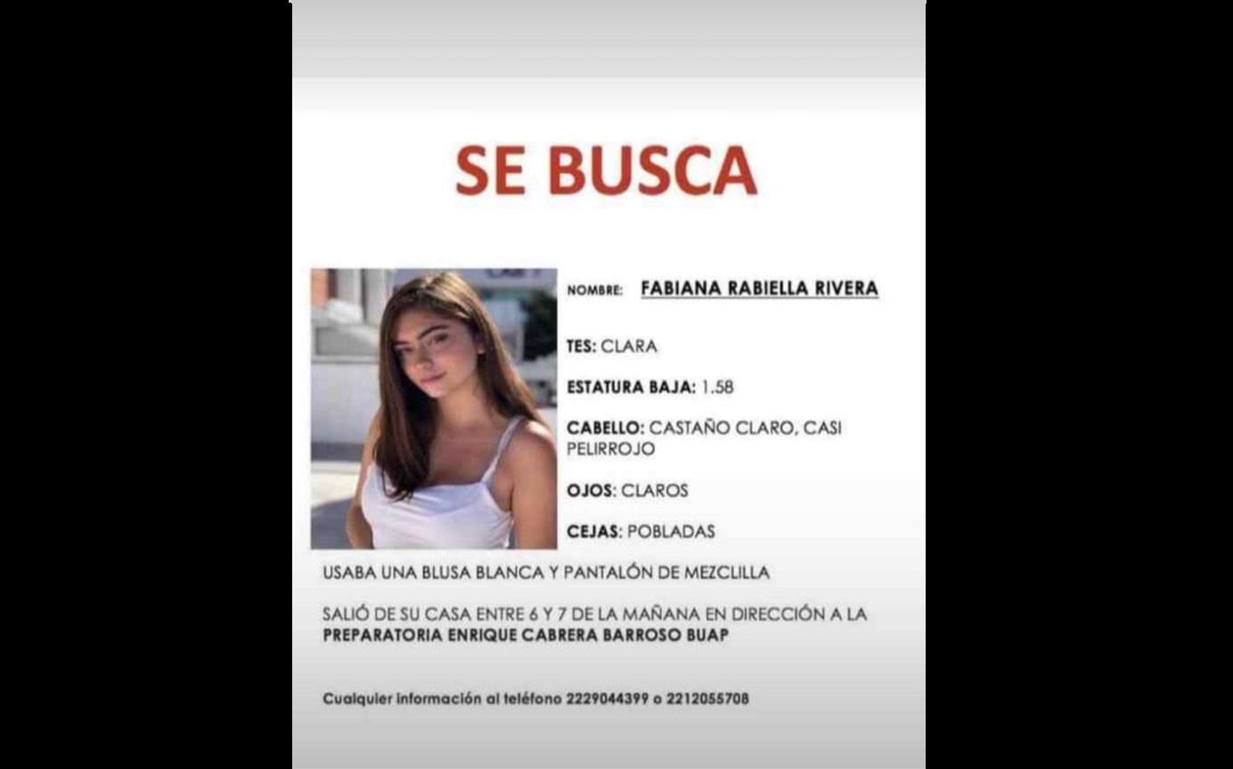 Ayúdanos a localizar a Fabiana