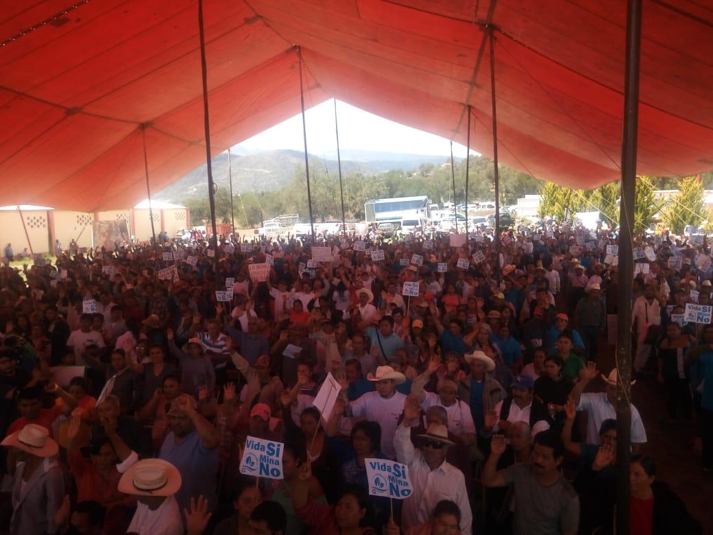 Pobladores rechazan Mina Ixtaca, clausuran oficina