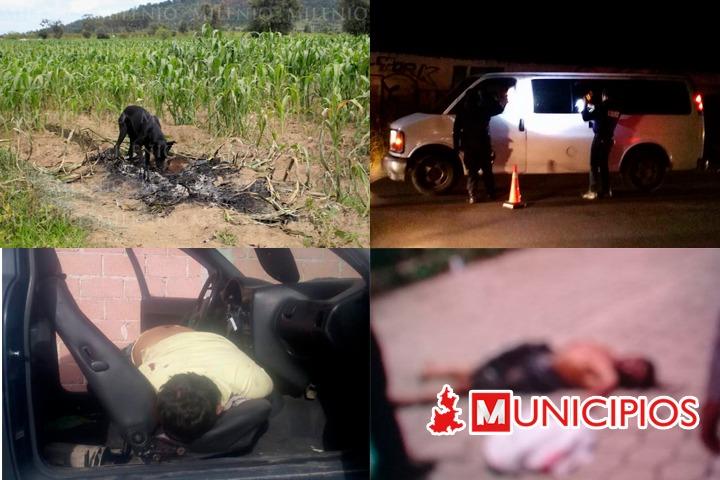 Ejecuciones, asaltos y riñas dejan 16 muertos esta semana en Puebla