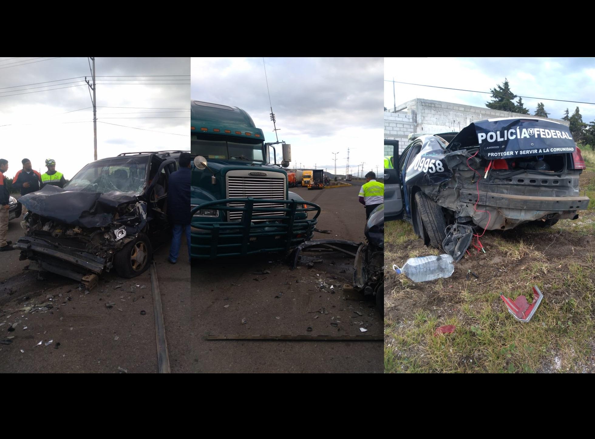 Conductor ebrio choca con patrulla de Federales en Esperanza