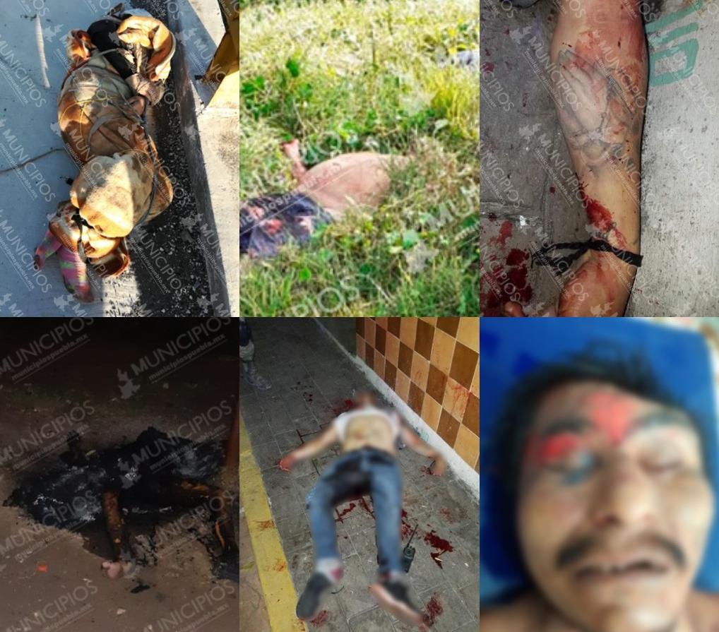 Cuerpos robados, ladrones muertos al huir y policías baleados en Puebla