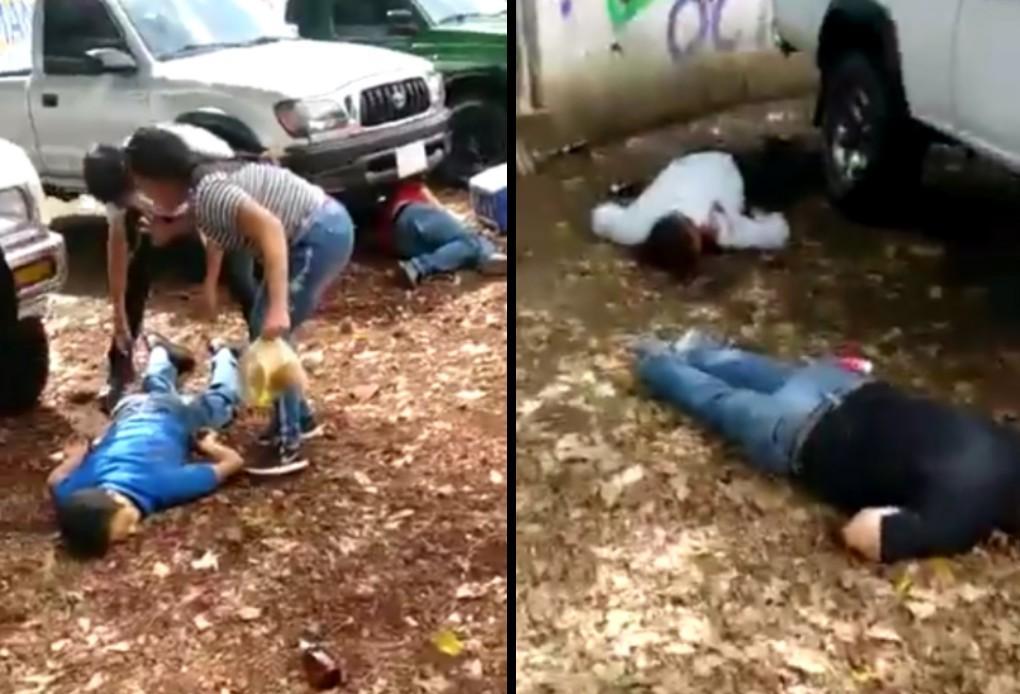 VIDEO Sicarios acribillan a 5 personas en pleno tianguis de autos