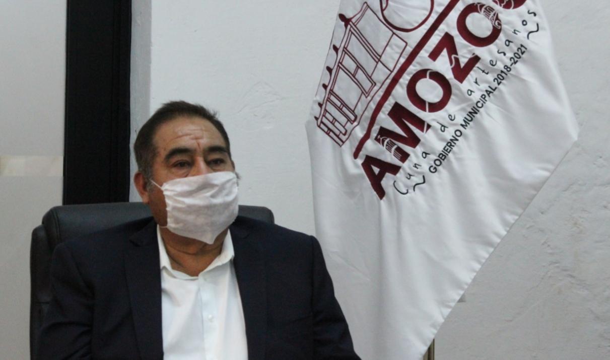 Mario de la Rosa mantendrá medidas ante Covid-19 en Amozoc