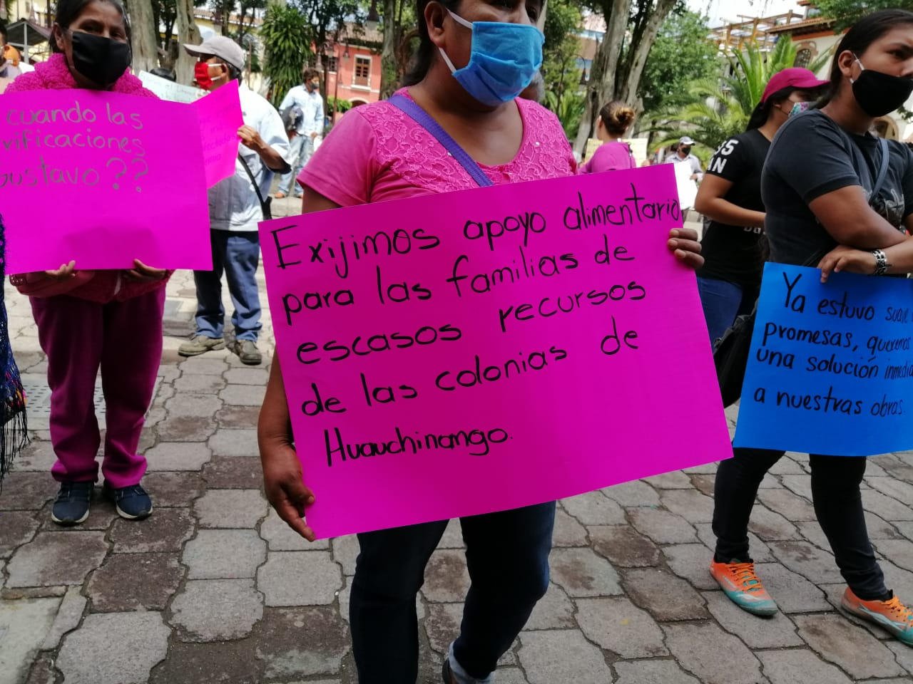 Antorcha Campesina se manifiesta en Huauchinango en demanda de obras
