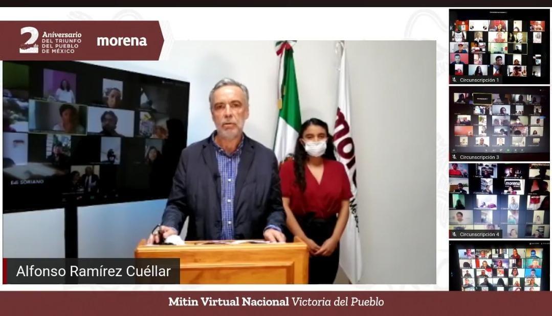 Con mitin virtual, Morena celebra dos años de triunfo electoral