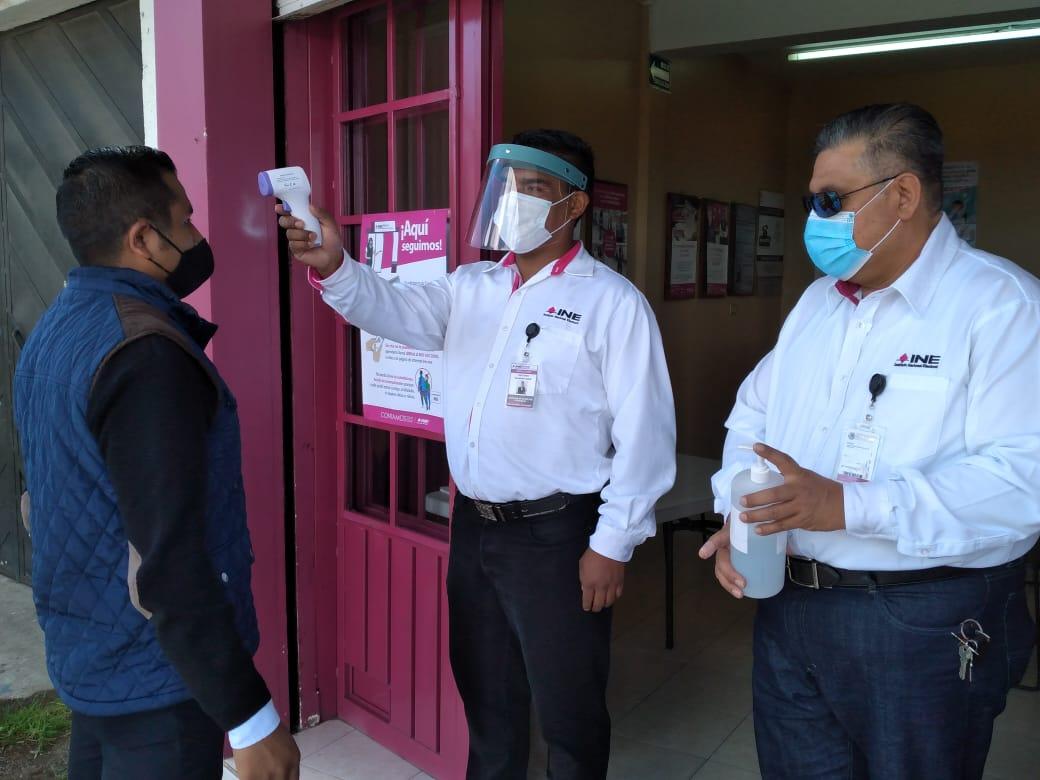 Con filtros de sanidad abre módulo de INE en Ciudad Serdán