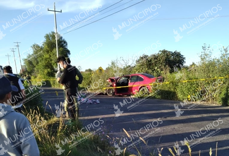 Un muerto y varios heridos tras choque en Huixcolotla