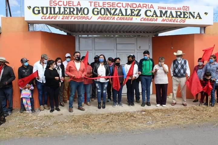 Inauguran obra en telesecundaria en Cañada Morelos