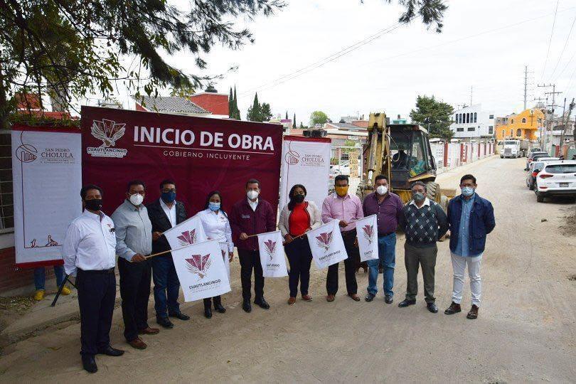 Cuautlancingo y San Pedro Cholula se unen para ejecutar obra
