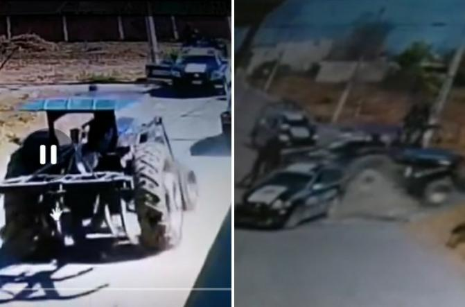 VIDEO Tras borrachera intentó huir de la policía de Coronango y así terminó