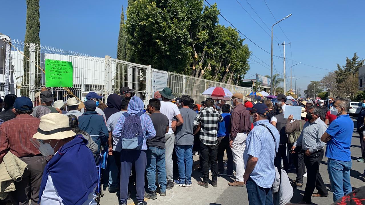 VIDEO Agotadas las vacunas contra Covid en San Andrés Cholula
