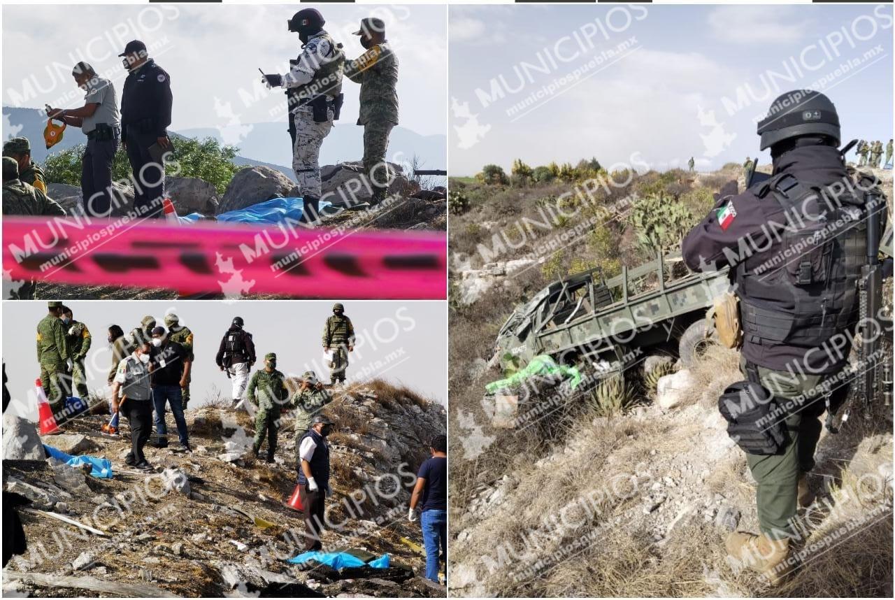 Mueren dos militares al volcar en la Puebla-Orizaba