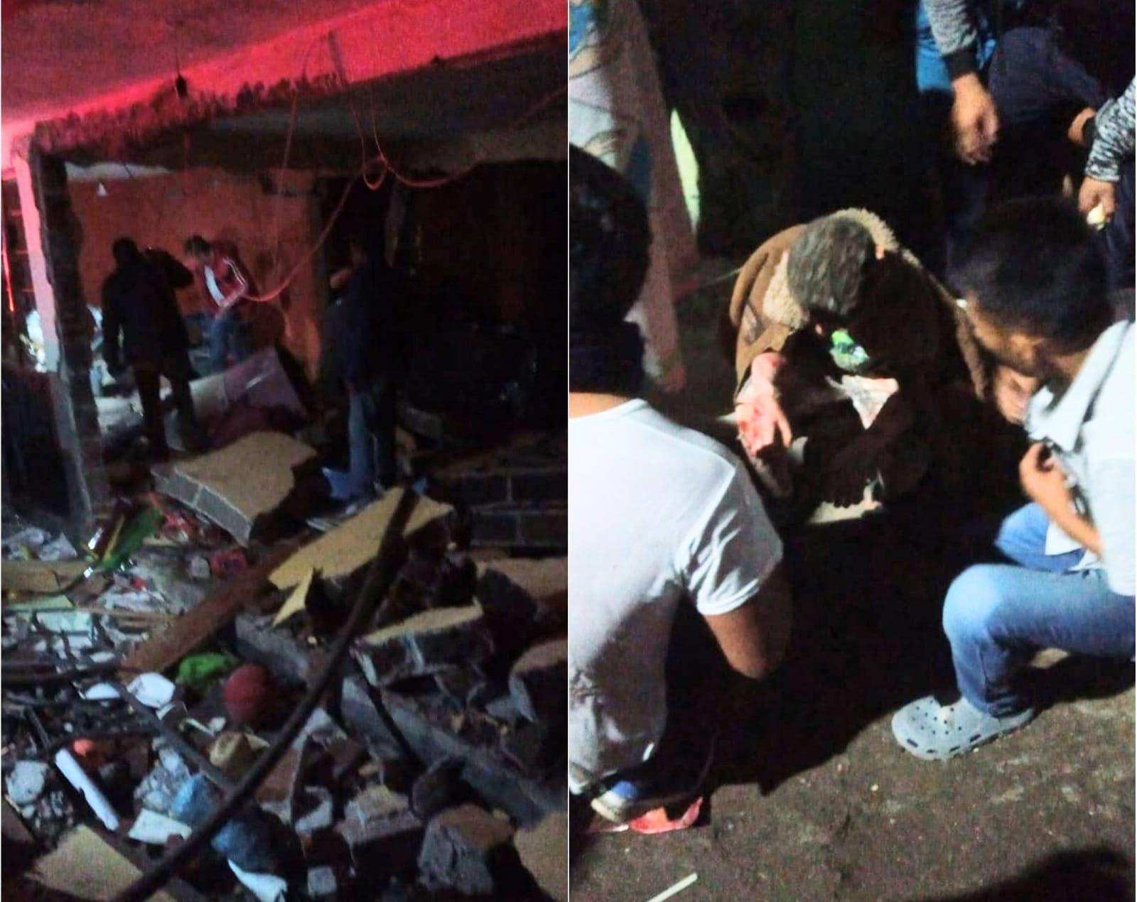 VIDEO Explosión de tanque de gas deja familia lesionada en Texmelucan