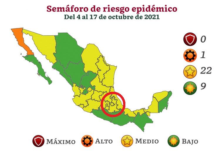 Puebla sigue en semáforo amarillo, sin poder salir de la tercera ola Covid