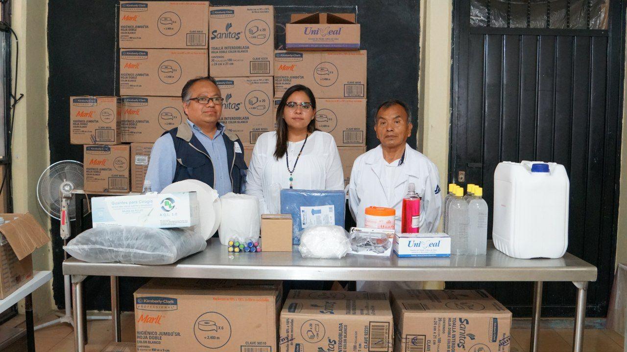 Xicotepec invirtió 300 mil pesos en insumos del Hospital Integral y Cruz Roja