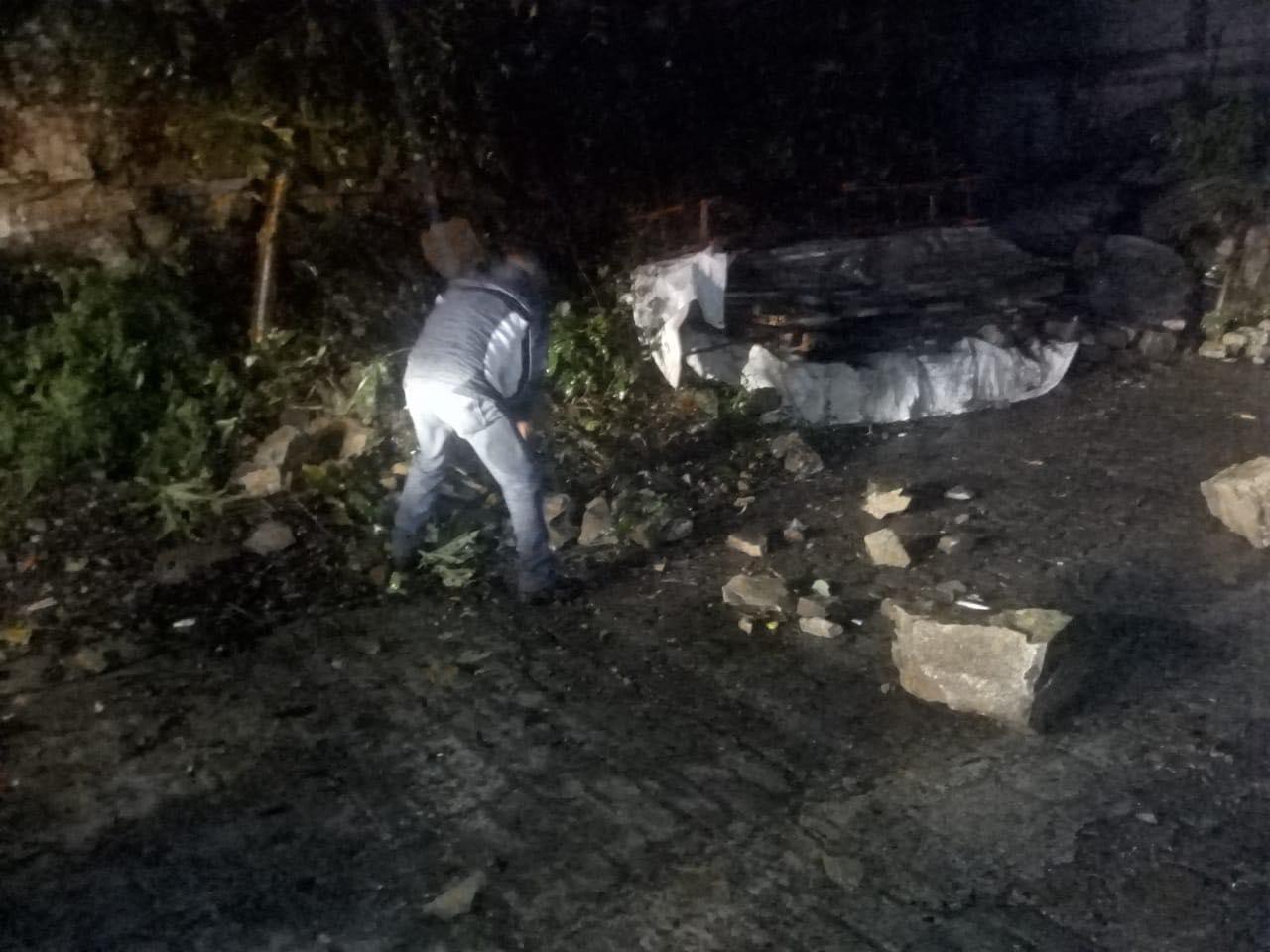 Lluvias afectan la colonia El Tabacal en Xicotepec