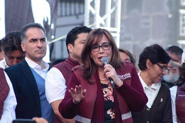 Mandatarios de Puebla, Chiapas y BC apoyan a Yeidckol