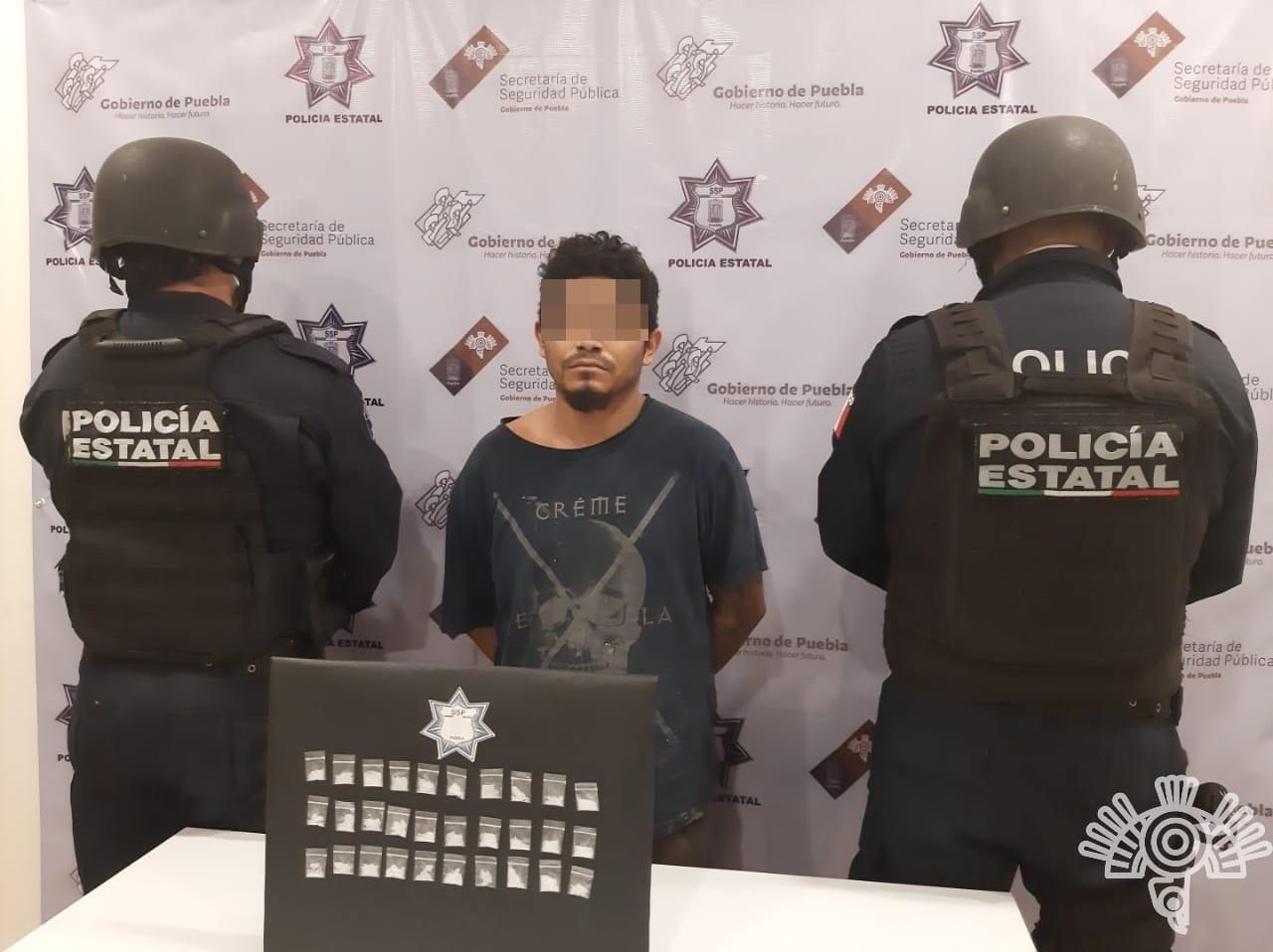 Detienen a narcomenudista de Zinacatepec