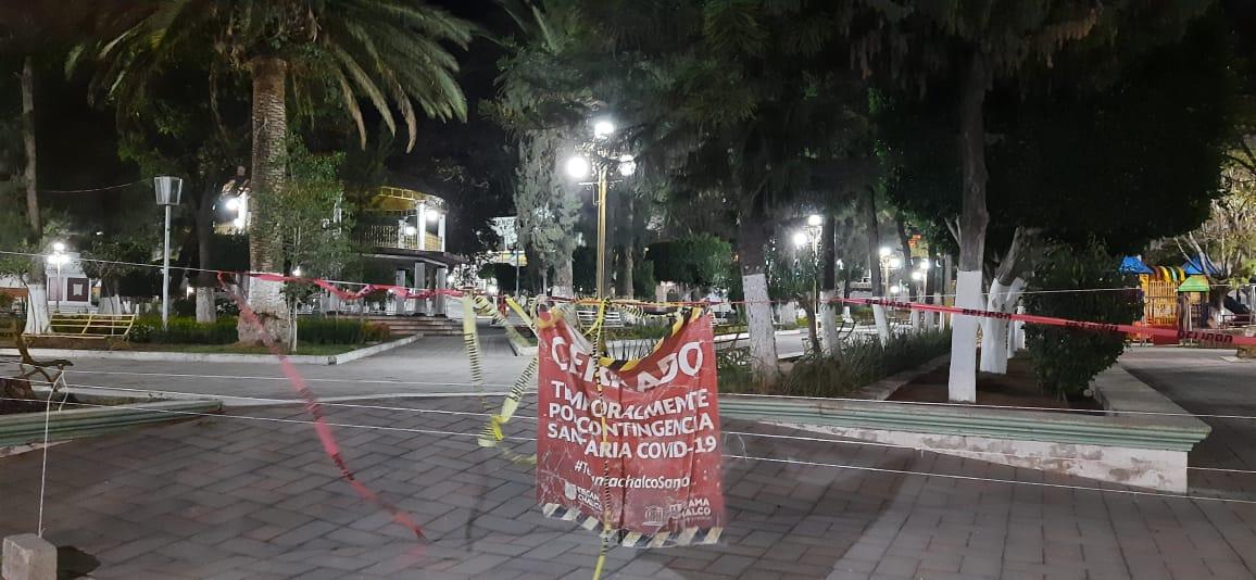 Cumple un año clausurado zócalo de Tecamachalco por Covid